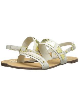 Dolce vita оригинал босоножки сандалии кожаные белые с золотым бренд из сша