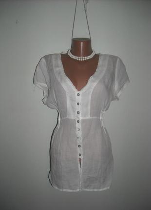 Блузка nila белая батистовая нарядная с поясочком под грудью