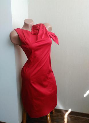 Красное платье футляр moschino cheap and chic