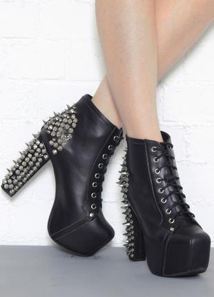 Ботильоны ботинки jeffrey campbell с шипами