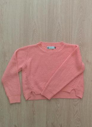 Яркий укороченый свитер hearts & bows