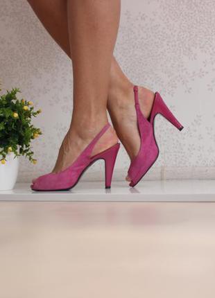 Замшевые босоножки, туфли с открытым пальчиком и пяткой, бренд faith
