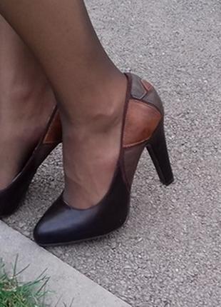 Туфли ronzo туфлі шоколадні oronzo 38 р. 24,5 см