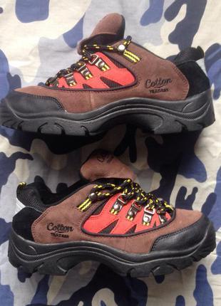 Кроссовки женские трекинговые cotton traders размер 40 25 см замша, обувь из англии!