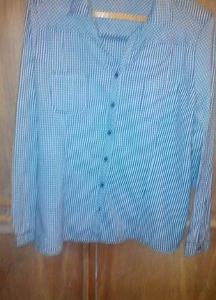 Рубашка в клетку тонкая