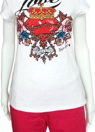 Хлопковая футболка twin-set с обалденным принтом