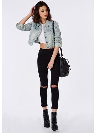 Укороченная джинсовая куртка джинсовка kiabi
