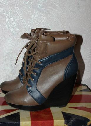Ботинки на танкетке zara
