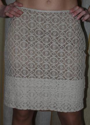 Роскошная юбка бренда monton нежное кружево новая