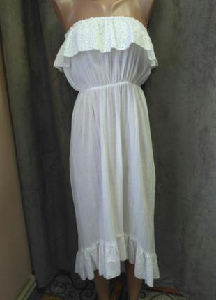 Платье с рюшей.сукня з рюшко.сарафан з рюшою,літній сарафан