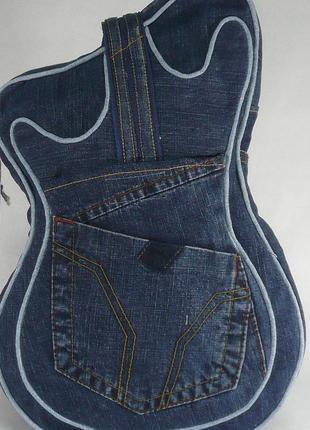 Оригинальная джинсовая сумочка-бананка
