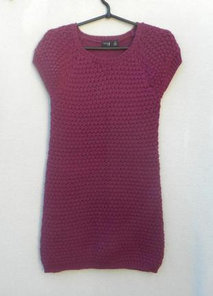 Теплое вязаное платье молодежное