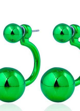 Серьги диоры / зеленые