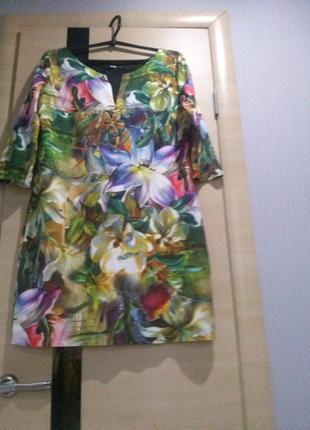 Яркое красивое платье турция say  46-48 р.