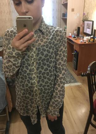 Красивая шифоновая рубашка dilvin