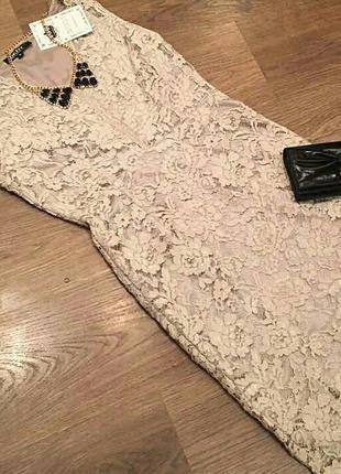 Шикарное брендовое  кружевное платье dkny