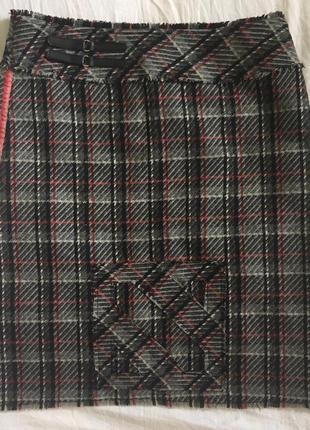 Шерстяная юбочка - миди, размер 42, sela