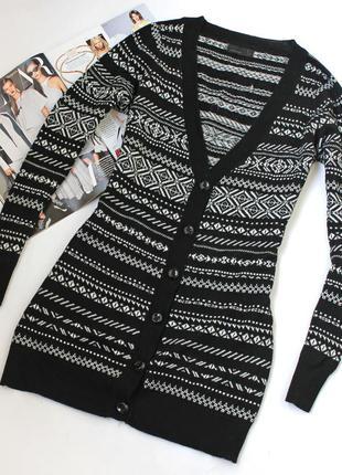 Стильный черный кардиган vero moda в норвежский орнамент
