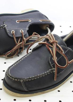Мокасины timberland, оригинал 35 р, 22,5 см, туфли топсайдеры, кожанные, синие