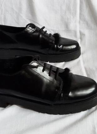 Черные туфли из нат кожи bell sueno, иcпания. р 39