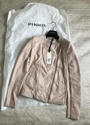 Шикарная кожаная куртка-косуха pinko, италия, размера 40(s); 42(m); 46