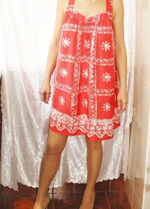 Легкое летнее платье сарафан, как новое  размер s или 42-44