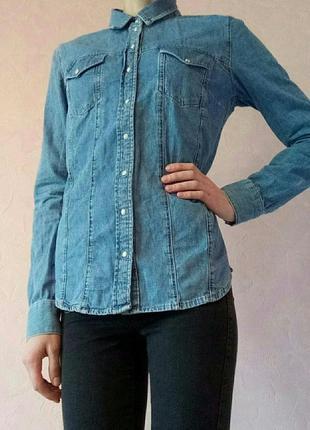 Крутая джинсовая рубашка от topshop