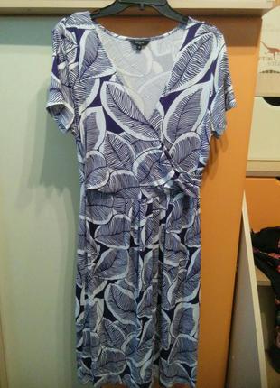 Трикотажное платье на лето