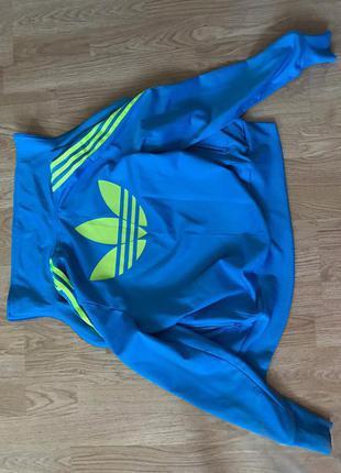 Голубой синий спортивный костюм adidas, оригинал