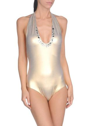 Золотой сдельный купальник blu girl, blumarine оригинал