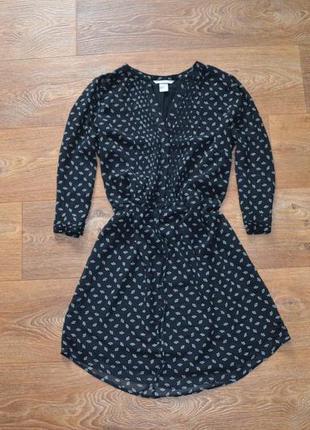 Шифоновое платье 3/4 рукава h&m s m
