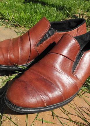 Кожаные туфли, стелька 24 см