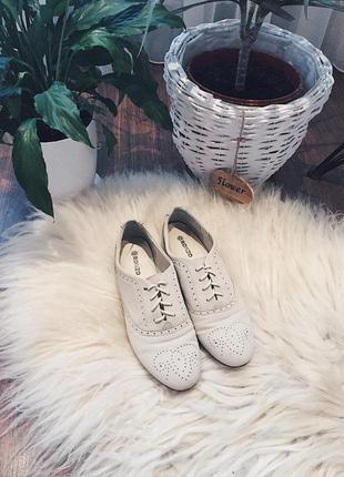 Стильные ботинки-оксфорды