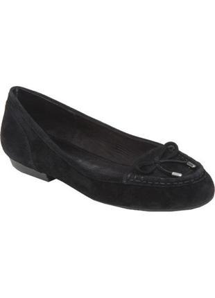 Bcbgeneration оригинал балетки мокасины лоферы черные замшевые бренд из сша р38