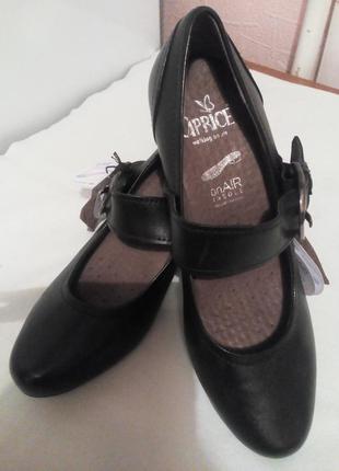 Кожаные туфли.,,caprice,, германия. размер 37,5 подойдут и на 38.