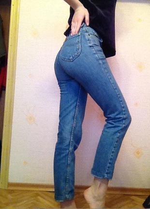Mom джинсы на высокой талии lee