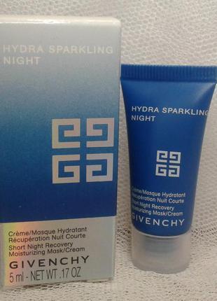 Ночная крем маска givenchy hydra sparkling night recovery moisturizing mask 5 мл