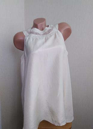 Блуза свободного фасона из натурального шелка,слоновая кость,айвори