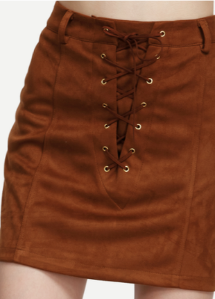Джинсовая юбка на шнуровке, мини юбка джинсовая короткая на лето, джинсовая юбка кантри