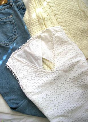 Очаровательная блузка из набивного кружева с красивой спинкой phase eight