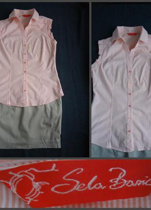 Рубашка без рукавов sela basic