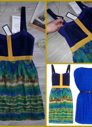 Люксовый бренд шелк 46 сток wren cocosa 346 евро платье сарафан
