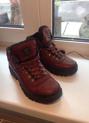 Кожаные ботинки кроссовки timberland для активного отдыха