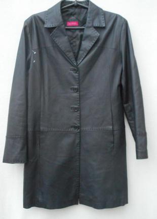 Черный классический кожаный тренч женский длинный плащ for women