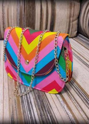 Сумка женская на длинном ремешке/кроссбоди/маленькая сумка/разноцветная сумка