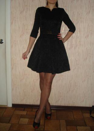 Жаккардовое платье с пышной юбкой elisabetta franchi