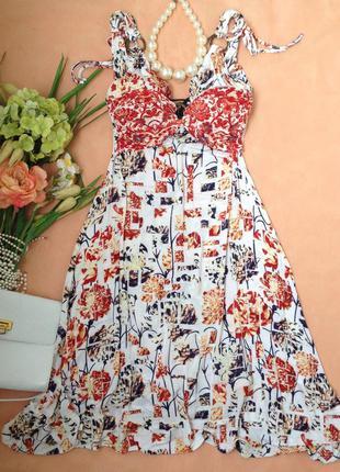 Роскошное летнее платье сарафан just cavalli, италия, оригинал, m, 44-46, eur 38-40.