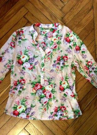 Весенняя блуза с цветочным принтом olko
