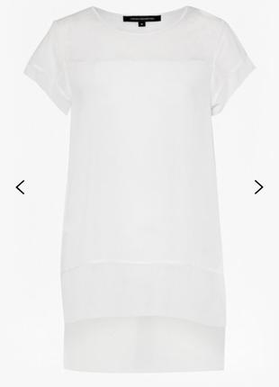 Белая удлиненная футболка french connection