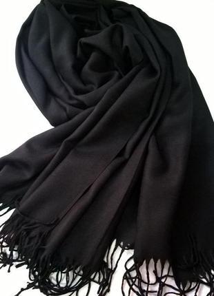 Новый черный шарф палантин пашмина платок из вискозы